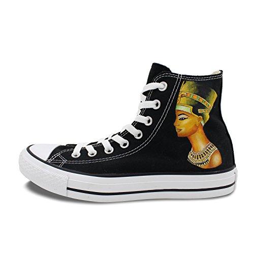Wen Scarpe Da Ginnastica Di Design Dipinte A Mano Faraone Di Egitto Uomo Donna Sneakers Casual