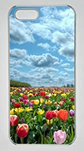 Beautiful Tulips Garden DIY Hard Shell Transparent iphone 5/5s Case Perfect By Custom Service