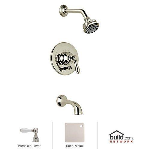 Stn Country Bath Shower - Rohl AKIT22LP-STN Country Bath Pressure Balance Shower and Bath Tub