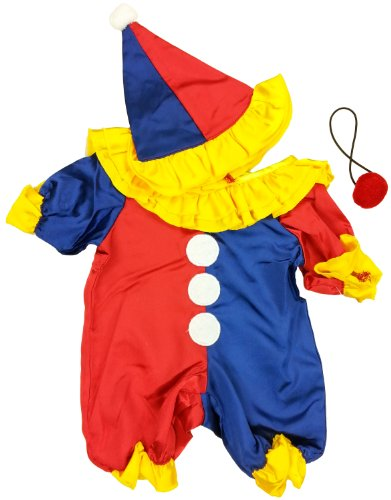 Make Your Own Halloween Clown Costume (Party Clown Outfit Teddy Bear Clothes Outfit Fits Most 14
