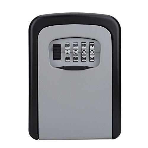 Vbestlife Key Storage Wall Mount Lock Box,4 Digit Combination Password Key Safety Code Keys Holder Storage Lock Box Case-Business Commercial Key Solid Lockbox for Indoor Outdoor by Vbestlife (Image #7)