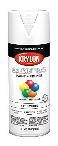 (Krylon K05577007 COLORmaxx Spray Paint, Aerosol, White)