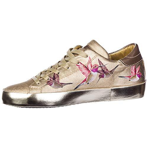 Philippe Mujer Zapatos Oro Bird Deporte Zapatillas Model De Paris rSx1vrZ