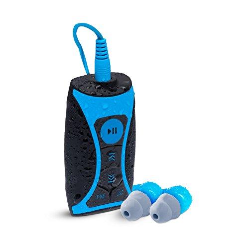 Waterfi 8GB 방수 MP3 플레이어 및 방수 단 코드 헤드폰이있는 F..