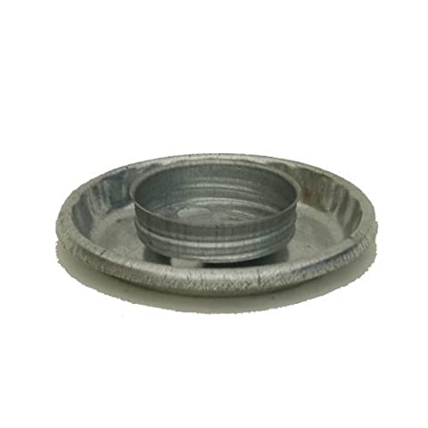 Brower Model 0 Galvanized Threaded Chick Fount Base by Brower - Fount Base