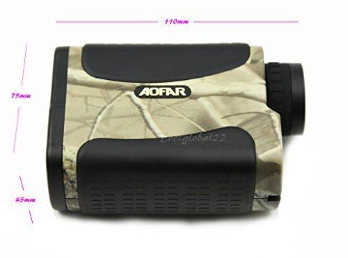 1200M Yard 6 x 25 Laser Rangefinder Waterproof Telemeter Range finder for Hunting Racing - Camo by AOFAR