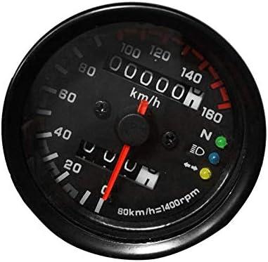 Compteur de vitesse moto compteur kilom/étrique double jauge de vitesse avec indicateur LCD accessoire de modification Vintage
