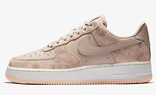 Nike Women's Air Force 1 '07 Low Metallic Red Bronze/Particle Beige/White/Crimson Leather Casual Shoes 9 M US