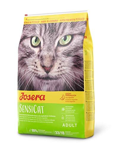 JOSERA SensiCat (1 x 10 kg) | Katzenfutter mit extra verträglicher Rezeptur | Super Premium Trockenfutter für…
