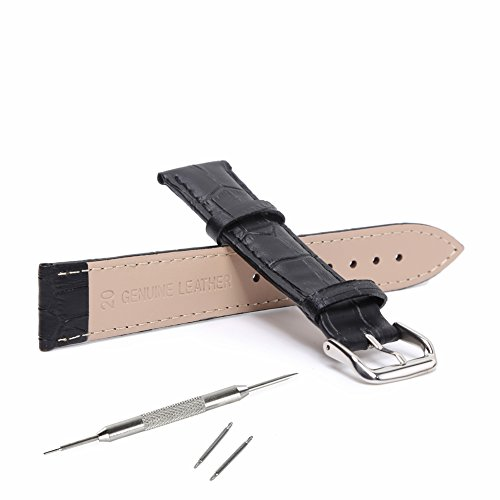 STYLELOVER Leather Watch Band, Genuine Cowhide Replacement Watch Strap for Men and Women 18mm 20mm 22mm