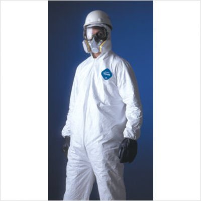 DuPont 251-TY122S-2XL Tyvek Elastic-Cuff Hooded Coveralls W/boots, White, 2x-Large, 25/carton
