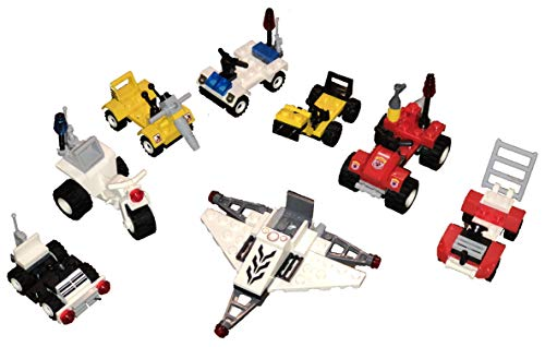 Mini Building Blocks Toy Set, 3D Police Cars Fire Truck Excavator with Figures, Educational, All Major Brand Compatible…