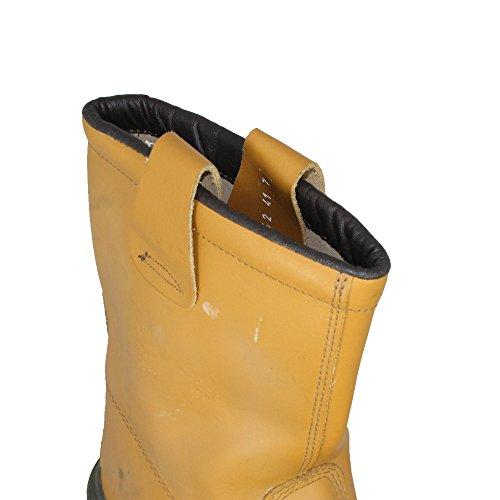 Ergos - Calzado de protección de Piel para hombre marrón