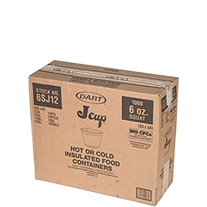 Amazon Com Dart 6sj12 Foam Containers 6oz White 50 Per Bag Case Of 20 Industrial Scientific