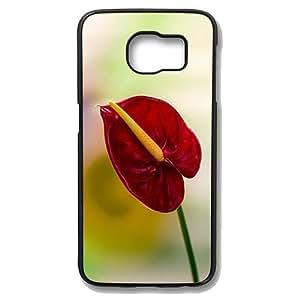 Samsung Galaxy S6 Edge Case - Anthurium Slim Bumper Case with Soft Flexible TPU Material for Samsung Galaxy S6 Edge Black