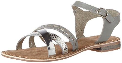 SPM Carla Sandal - Sandalias Mujer Mehrfarbig (silver/silver/lt Grey)