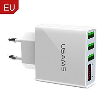 USAMS 3 Puertos USB Cargador de Teléfono LED Display EU ...