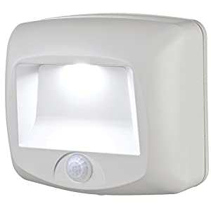 Mr. Beams MB530 Wireless Battery-Operated Indoor/Outdoor Motion-Sensing LED Step Light, White