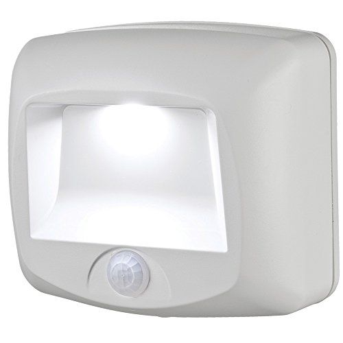 Mr. Beams MB530 Wireless Battery-Operated Indoor/Outdoor Motion-Sensing LED Step/Stair Light, White (Detector Beam)