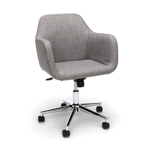 grey upholstered desk chair