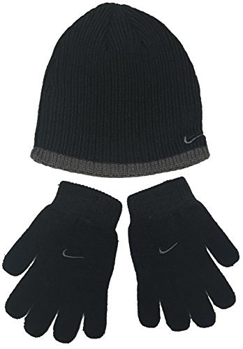 Nike Boys Rib Knit Hat and Glove Set Size : Youth (Nike Rib)
