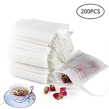 Qincling - 200 Bolsas de Filtro de té, Bolsas Desechables ...
