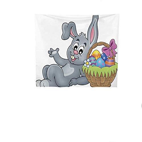 Sunset glow Pattern Tapestry Basket.jpg with.jpg Eggs.jpg and.jpg Easter.jpg Bunny.jpg 3.jpg Gorgeous Tapestry 47W x 47L Inch