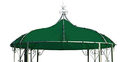 DEGAMO Dachplane für Pavillon Burma 300cm rund wasserdicht, dunkelgrün
