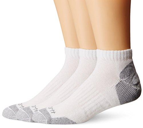 Carhartt Men's 3 Pack Low Cut Work Socks, White, Shoe Size: 11-15
