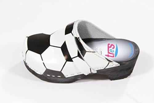 Tres schwedenclogs enfant motif ballon de football