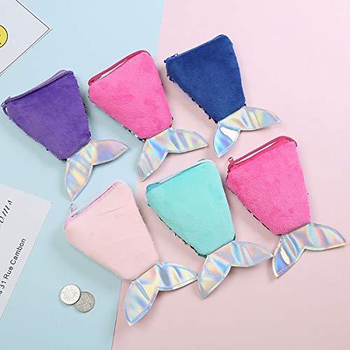 13 3 cadeau de ans les rempli Godea filles en Sequins surprise parfait de style nouveauté pour à de Mermaid violet peluche Sac jouets fRUqwvf