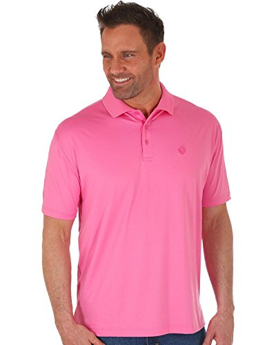 Wrangler Men's George Strait by Performance Polo Pink Large