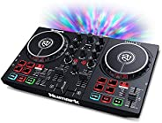 Numark Party Mix II - DJ Controller with Party Lights, DJ Set with 2 Decks, DJ Mixer, Audio Interface and USB