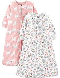 Baby Girls' Microfleece and Cotton Sleepbags