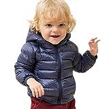 marc janie Little Girls Boys' Outerwear Ultra Light Weight Down Jacket 18 Months (73 cm) Dark Blue