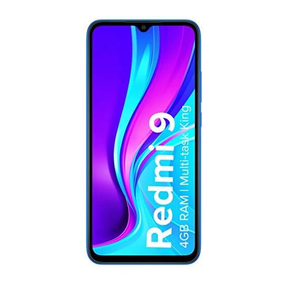 Redmi 9 (Sky Blue, 4GB RAM, 128GB Storage) - 3 Months No Cost EMI on BFL