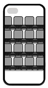 custom iphone 4 cases Chair Bookshelf TPU Black for Apple iPhone 4/4S