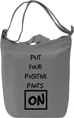 Positive Pants Borsa Giornaliera Canvas Canvas Day Bag| 100% Premium Cotton Canvas| DTG Printing|