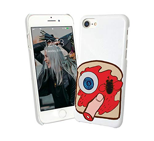 Halloween Creepy Sandwich Eye Finger_007327 Phone Hard PC Cover for Protection Compatible with iPhone 7 Funny Gift Christmas]()
