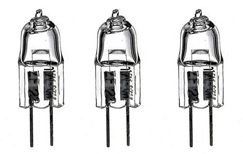 3 Pack Microscope Bulbs - 6V 20W G4 Bulb for Nikon, Zeiss, Olympus, Amscope, Omax and Laxco Microscopes