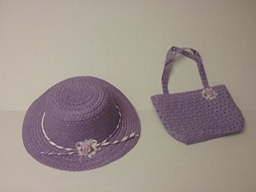 Rarity Equestria Girls Costume (Girls Tea Party Hat and Purse Dress Up Easter Set - Purple)