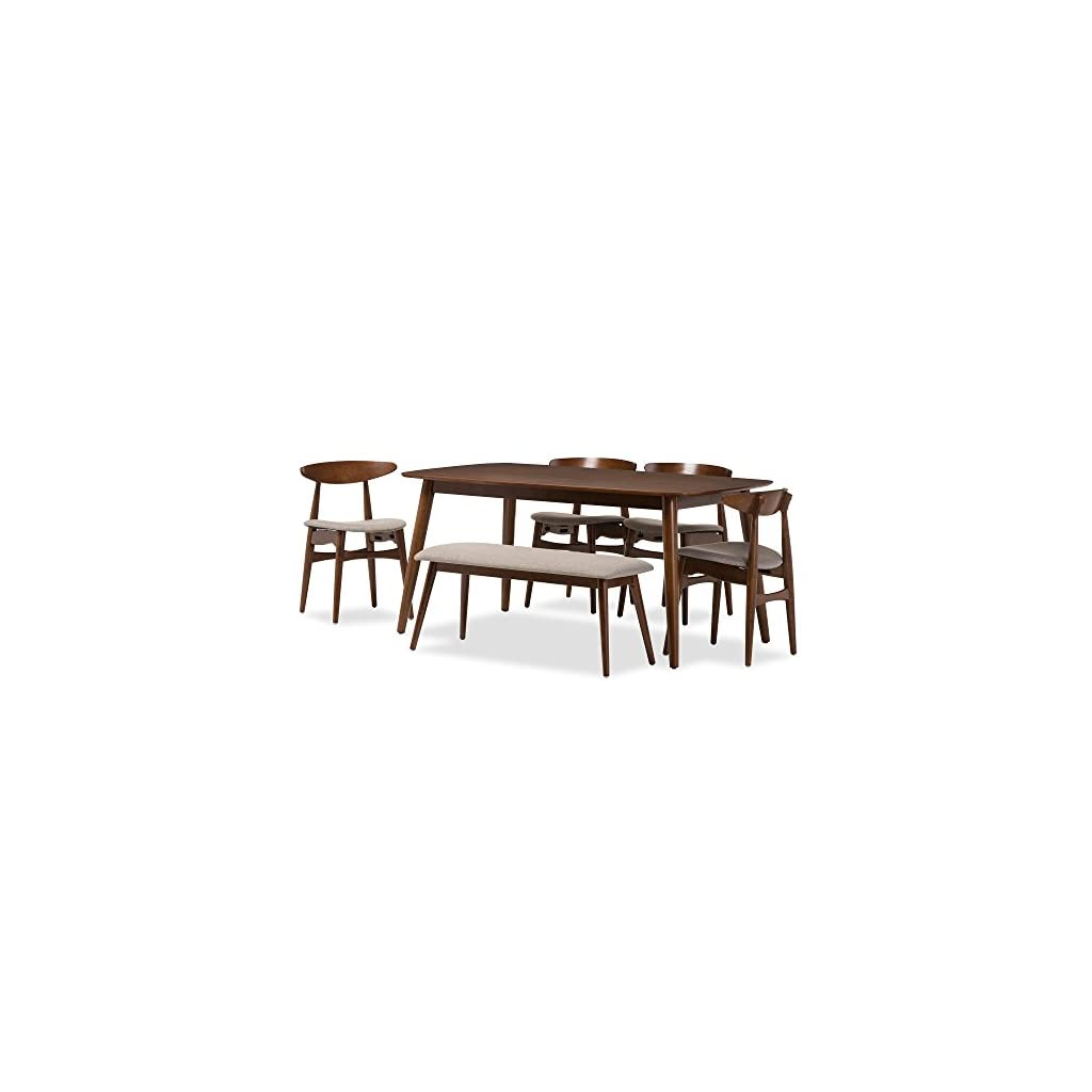 Strange Juliette 6 Piece Rectangular Dining Table Set By Baxton Studio Gmtry Best Dining Table And Chair Ideas Images Gmtryco