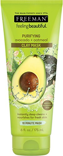 Freeman Purifying Avocado + Oatmeal Clay Mask, 6 fl.oz.