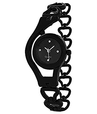 DK ENTERPRISE Black Color Analog Watch for Women Stylish & Girls Latest DKE 003