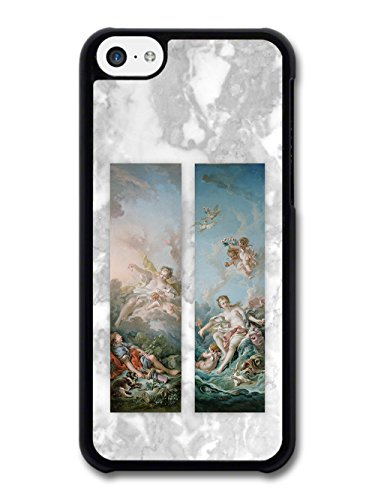 Classic Vintage Paintings on Cool Goth Grunge Marble Effect case for iPhone 5C