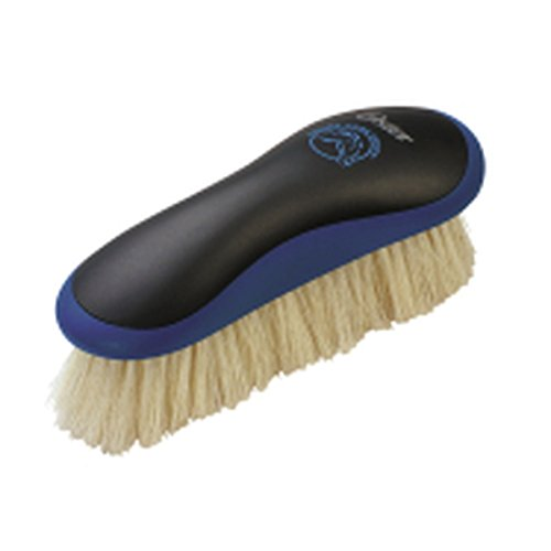 OSTER Equine Care Series Finishing Brush, Soft Bristle, Natural Hog Hair, Blue