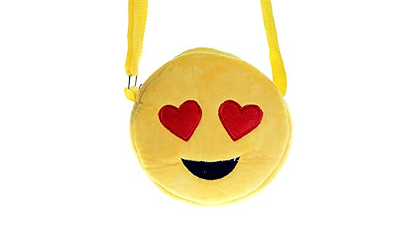 Amazon.com: Jewh Children Plush Messenger Cartoon Bags Kindergarten Girl Kawaii Stuffed Doll Yellow Face Expression Bags Kid School Bag Baby Toy (A): Toys & ...