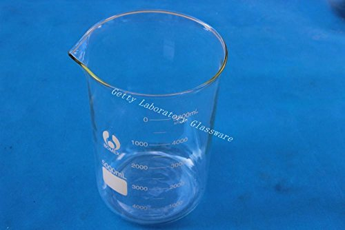 5000 mL (5 Litre) Lab Glass Beaker, with wide mouth, pyrex glass material Beijing Getty Laboratory Glassware Co.