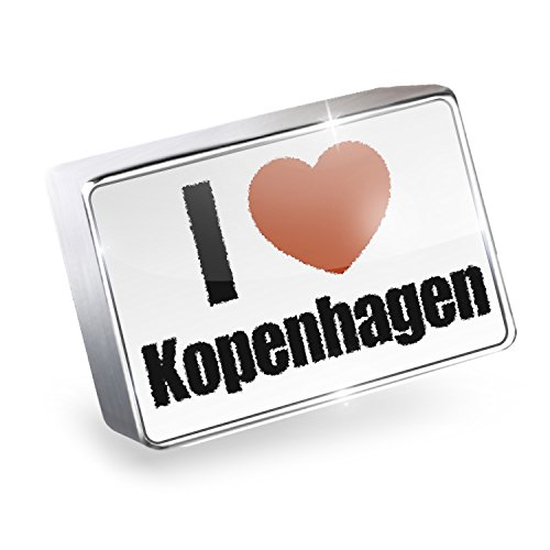 Floating Charm I Love Kopenhagen region: Denmark Fits Glass Lockets, - Denmark I Glasses