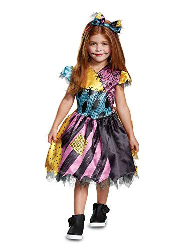 Disguise Sally Classic Toddler Child Costume, Multi Color, Medium/(3T-4T) -